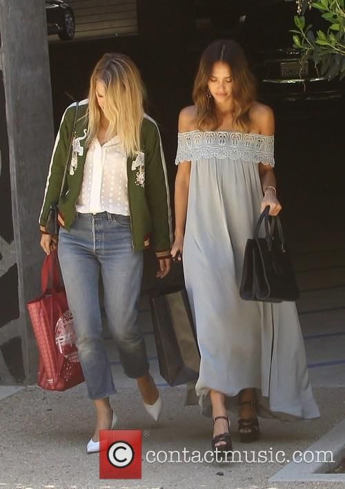Jessica Alba out shopping on her birthday