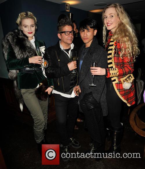 Joe Alvarez, Jasper Garvida (designer), Tamara Dumas and Model Guest 9