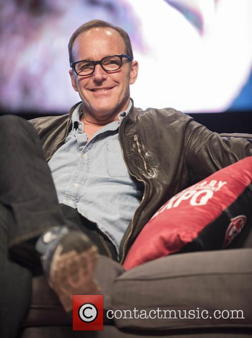 Clark Gregg speaks to fans at The Calgary...