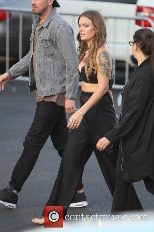 Tove Lo seen headed to the stage before...