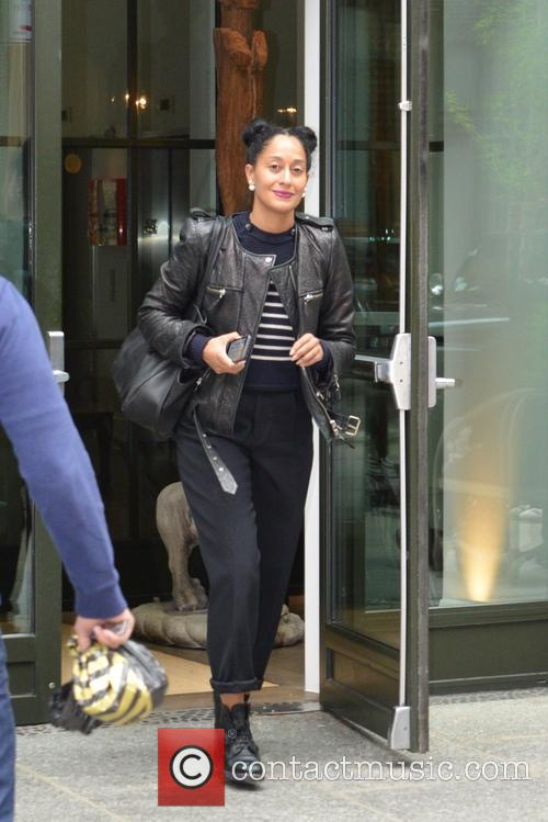 Tracee Ellis Ross leaving her hotel