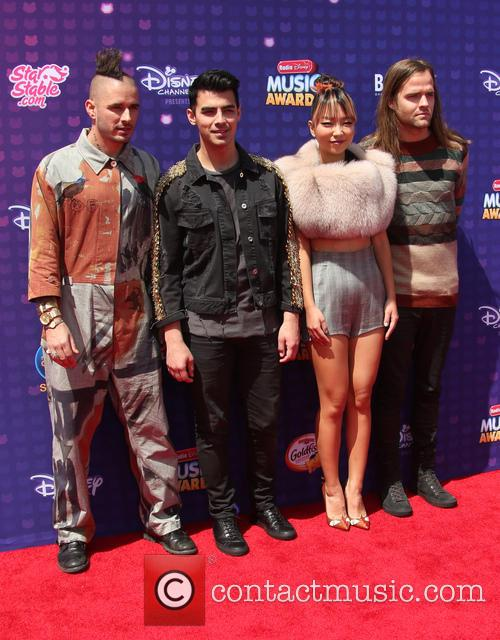 Joe Jonas, Cole Whittle, Jack Lawless and Jinjoo Lee 2