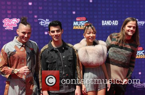 Joe Jonas, Cole Whittle, Jack Lawless and Jinjoo Lee 3