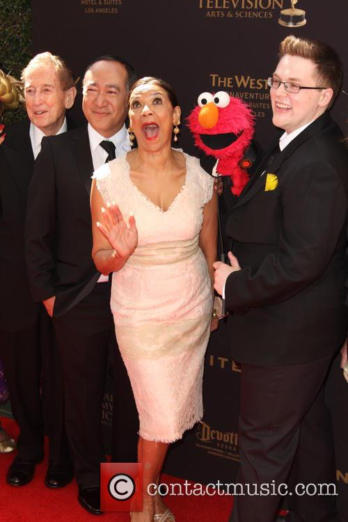 Sonia Manzano, Alan Muraoka and Elmo 7