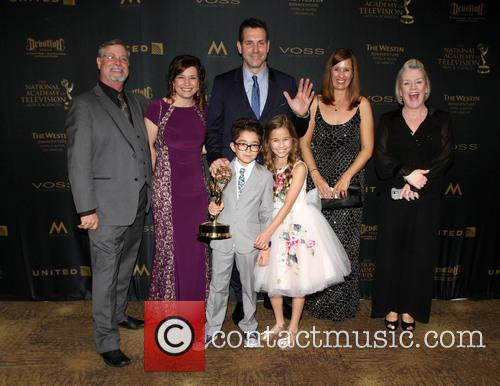 Producer Frank Valentini, Brooklyn Rae Silzer and Nicolas Bechtel -  Best Drama Series General Hospital 2
