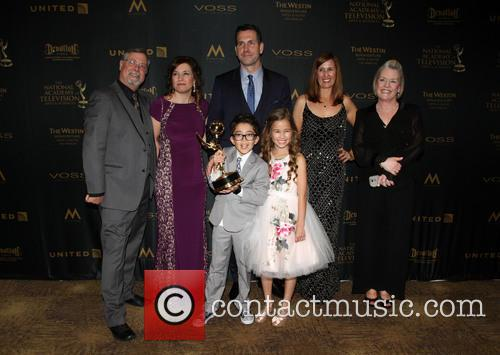 Producer Frank Valentini, Brooklyn Rae Silzer and Nicolas Bechtel -  Best Drama Series General Hospital 5