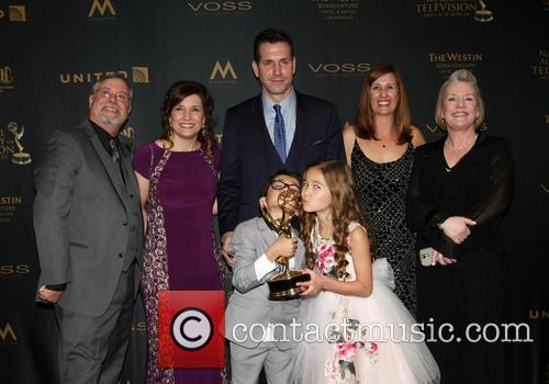 Producer Frank Valentini, Brooklyn Rae Silzer and Nicolas Bechtel -  Best Drama Series General Hospital 6