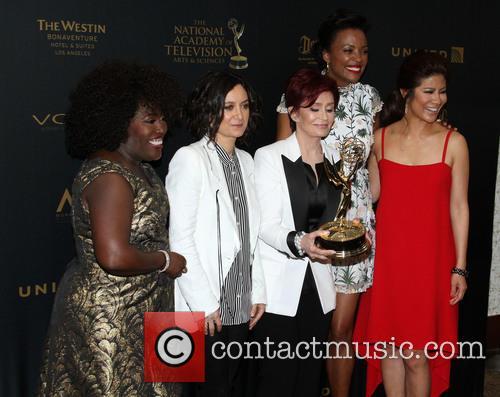 Sheryl Underwood, Sara Gilbert, Sharon Osbourne, Aisha Tyler and Julie Chen Of The Talk 3
