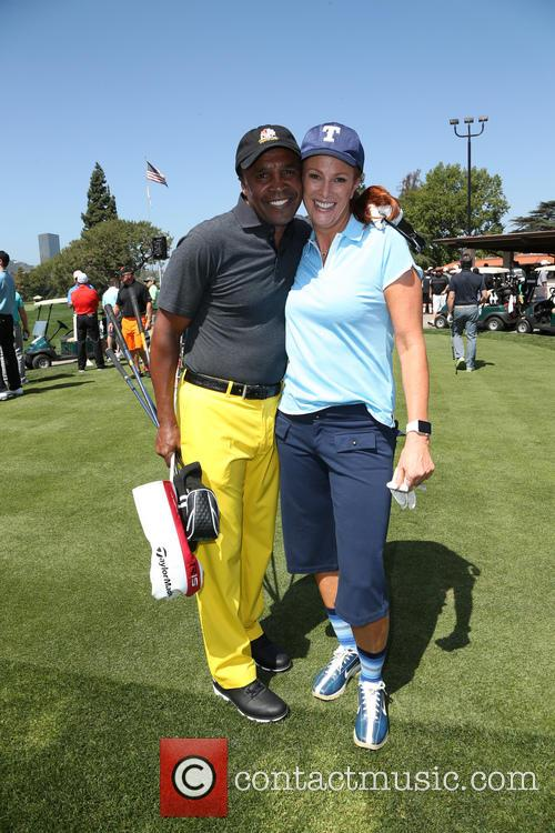 Sugar Ray Leonard and Angie Everhart 1