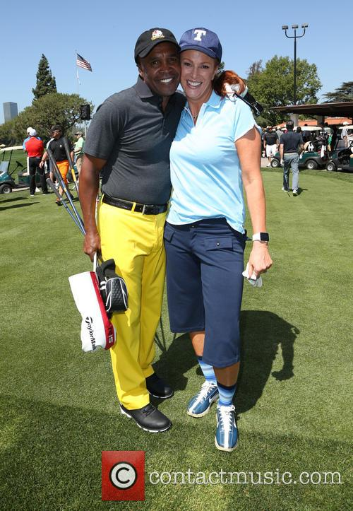 Sugar Ray Leonard and Angie Everhart 2