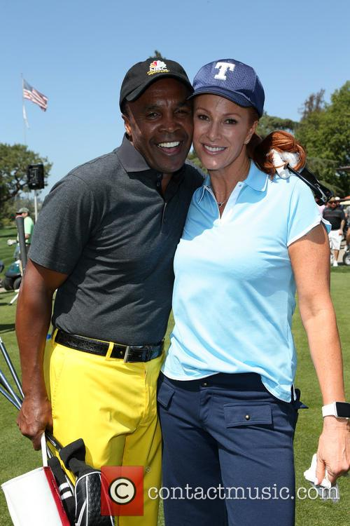Sugar Ray Leonard and Angie Everhart 3