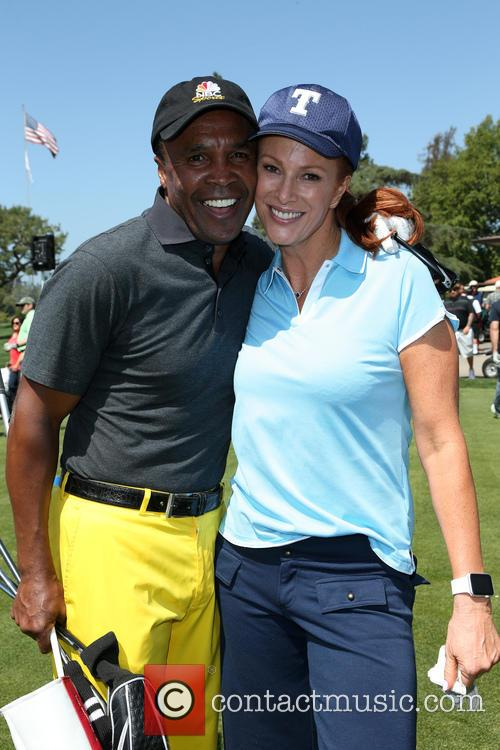 Sugar Ray Leonard and Angie Everhart 4