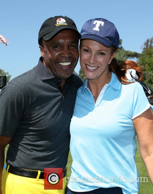 Sugar Ray Leonard and Angie Everhart 5