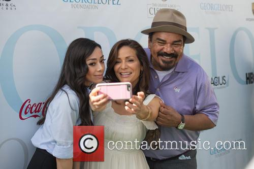 Aimee Garcia, Constance Marie and George Lopez 7