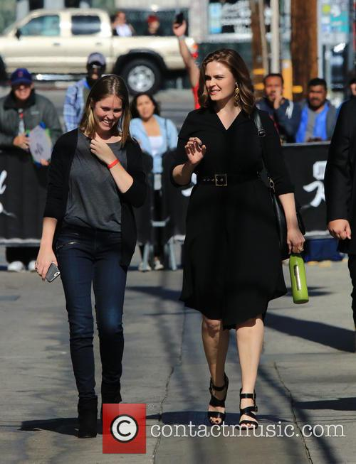 Emily Deschanel at 'Jimmy Kimmel Live!'