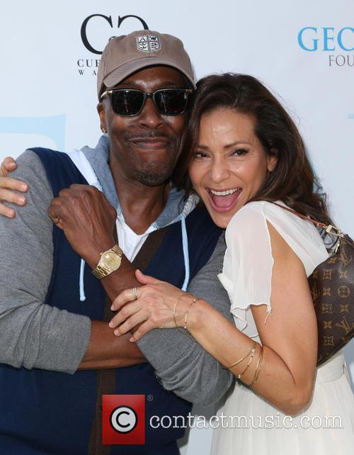 Arsenio Hall and Constance Marie