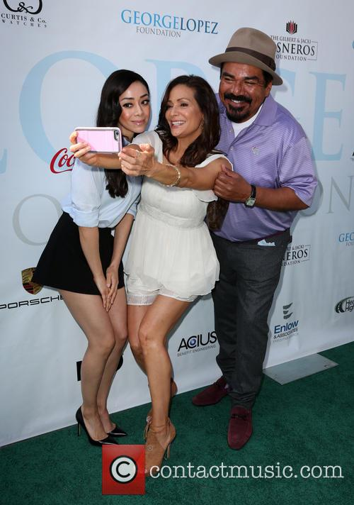 Aimee Garcia, Constance Marie and George Lopez 9