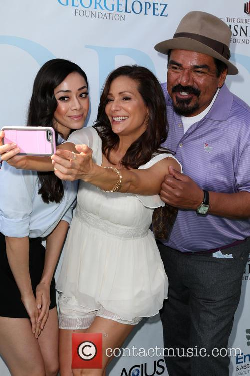 Aimee Garcia, Constance Marie and George Lopez 10