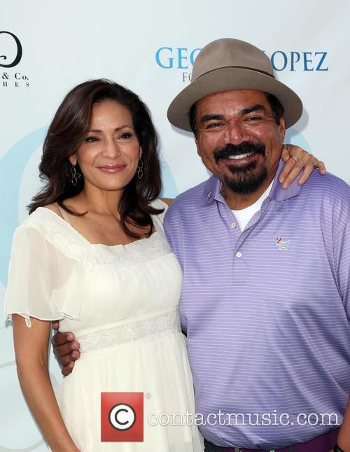 Constance Marie and George Lopez 8