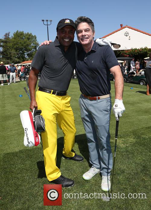 Sugar Ray Leonard and Peter Gallagher 6