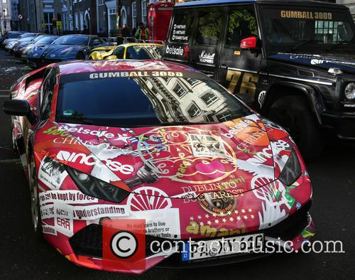 The Gumball 3000 rally leaves London