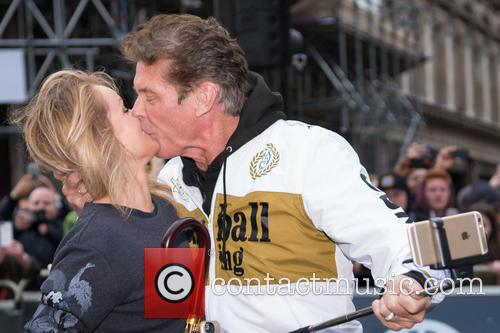 Hayley Roberts and David Hasselhoff at the...
