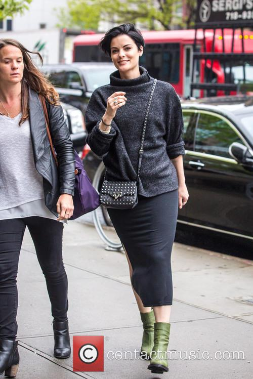 Jaimie Alexander grabs lunch the morning after Met...