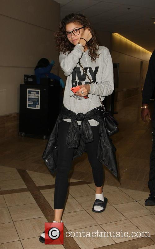 Zendaya arrives at LAX
