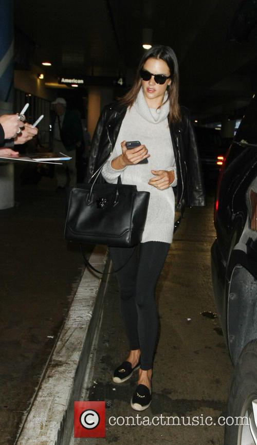 Alessandra Ambrosio arrives at Los Angeles International Airport...