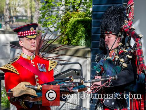 Will Casson-smith, Warrant Officer, First Class Band Master and Piper John Mitchell 2