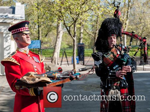 Will Casson-smith, Warrant Officer, First Class Band Master and Piper John Mitchell 4