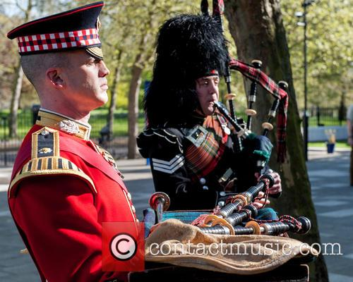 Will Casson-smith, Warrant Officer, First Class Band Master and Piper John Mitchell 5