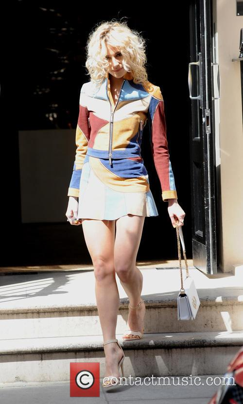 Pixie Lott leaves the Haymarket Hotel