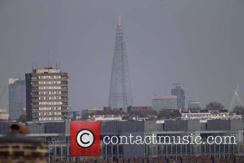 Heavy smog on the London skyline