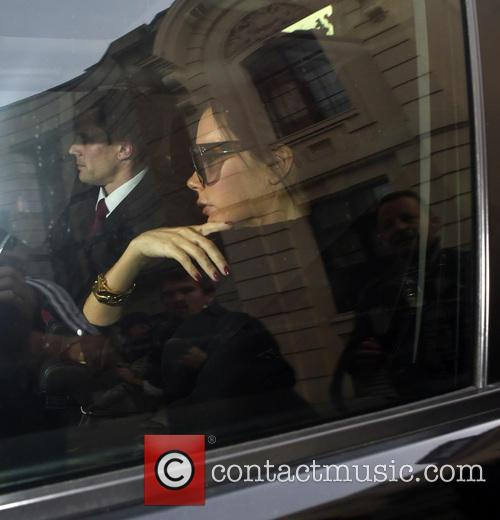 Victoria Beckham arrives at the National Portrait Gallery