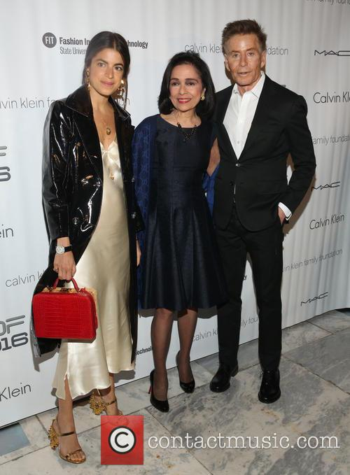 Leandra Medine, Dr. Joyce F. Brown and Calvin Klein 1