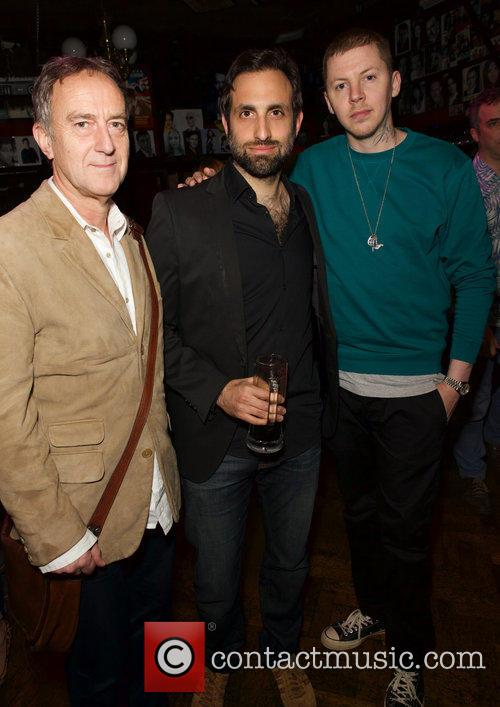 Angus Deayton, Tim Samuels and Professor Green 1