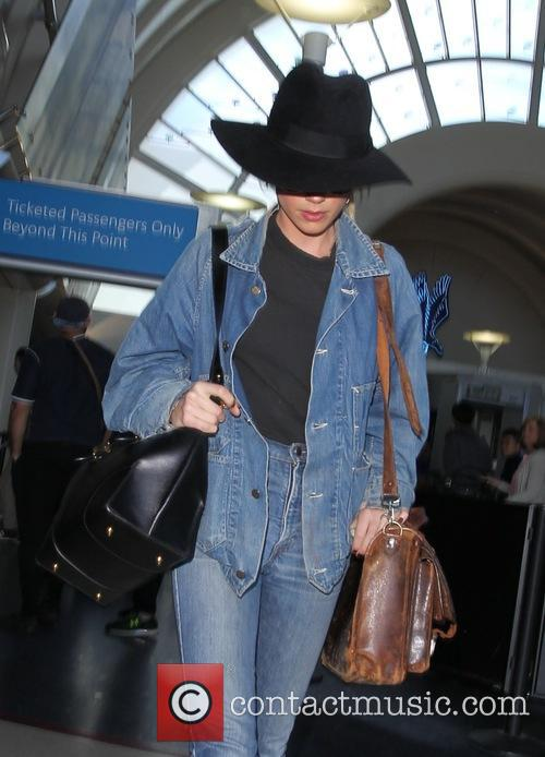 Amber Heard arrives at Los Angeles International Airport...
