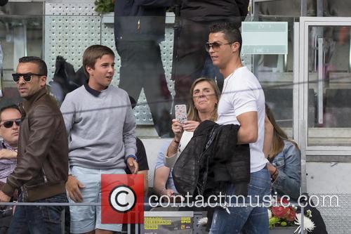 Cristiano Ronaldo attends Rafael Nadal v João Sousa