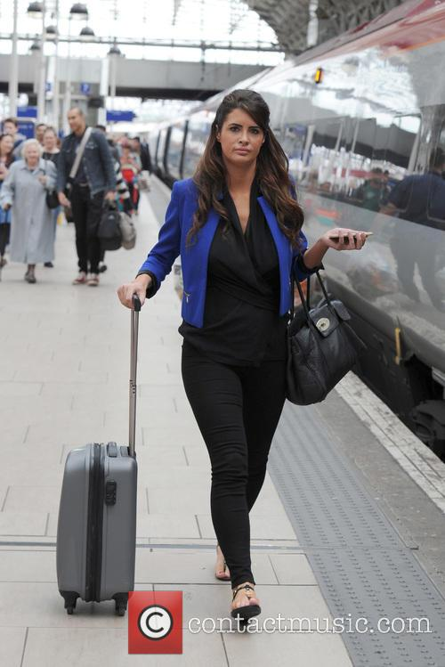 Helen Wood arriving at Manchester Piccadilly Train Station