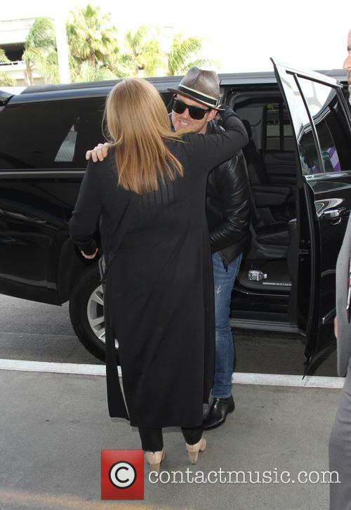 Michael Bublé arrives at Los Angeles International Airport...