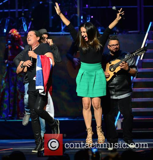 Carlos Vives performs live at the American Airlines...