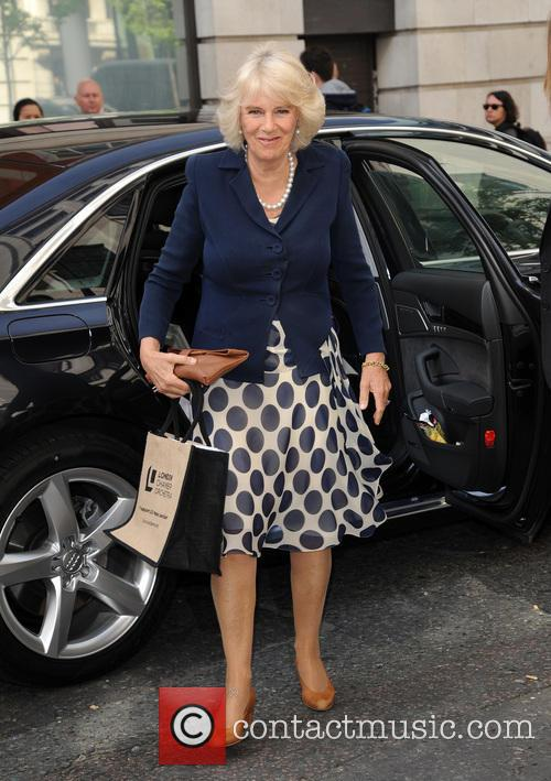 Camilla Duchess of Cornwall arrives at BBC Radio...