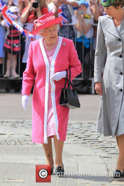 HRH The Queen visits St. Peter's church