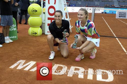 Caroline Garcia. Kristina Mladenovic 2