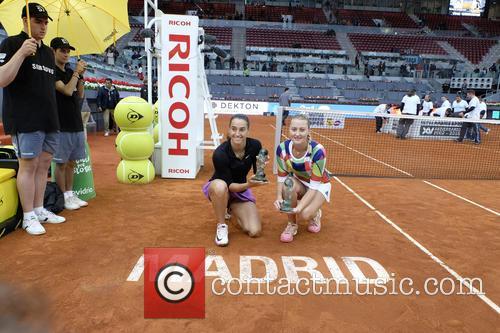 Caroline Garcia. Kristina Mladenovic 4