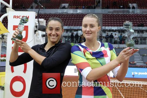 Caroline Garcia. Kristina Mladenovic 7