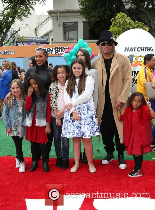 Mel B, Stephen Belafonte, Madison Brown Belafonte, Angel Iris Murphy Brown and Phoenix Chi Gulzar 1