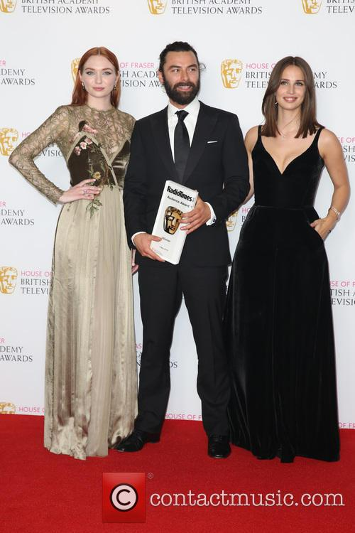 Eleanor Tomlinson, Aidan Turner and Heida Reed 4