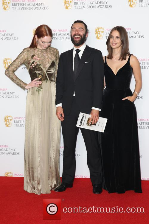 Eleanor Tomlinson, Aidan Turner and Heida Reed 8